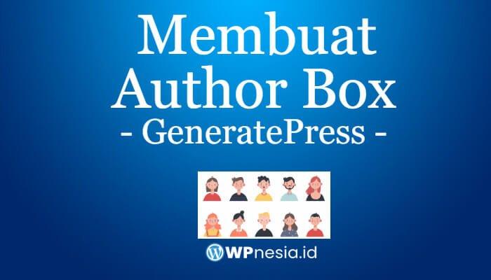 Author Box di GeneratePress