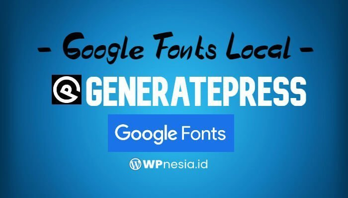 Google Fonts Local
