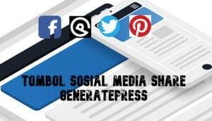 Tombol Sosial Media Share di GeneratePress