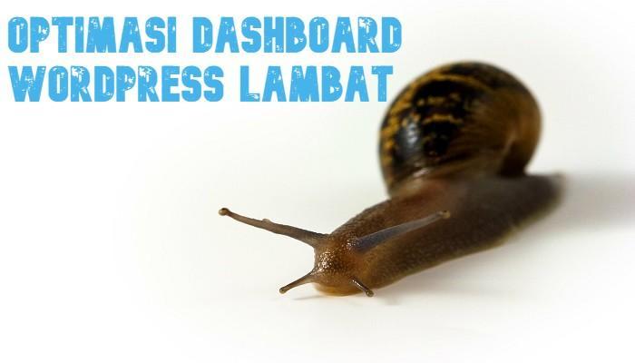 Dashboard WordPress Lambat